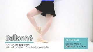 [Rufikan] Ballone - Ballet Pointe Class, Grishko Canvas Pointe Shoes MAYA1