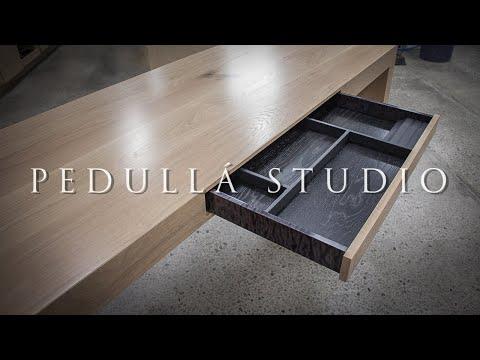 American White Oak Office Desk - Build video by Pedulla Studio