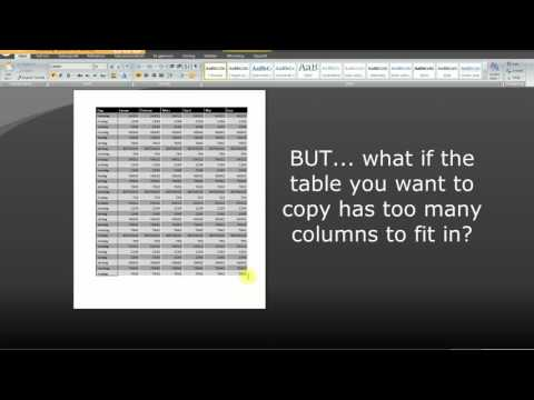 How to copy table from Excel to Word 3