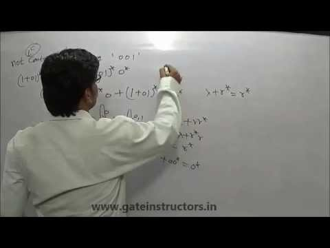Set of Binary Strings that do not contain 001 as Substring | DFA NFA Grammar | 021