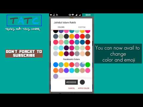 How To Change Messenger Chat Color | Besic Color | Tricks And Tips Center