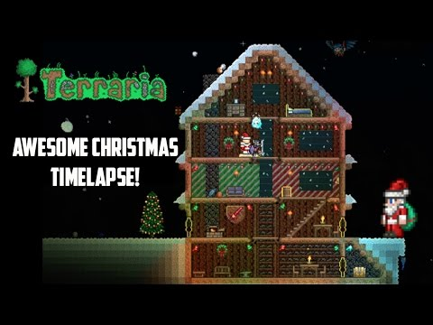 Terraria ios | Awesome Christmas Build Timelapse!!! (Holiday Special part 2)