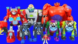 Imaginext Robot Wars with Big Hero 6 Baymax Toy Story Buzz Lightyear Joker Transformers 2nd annual