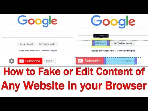 How to Fake or Edit Content on any Website and then Save or Print