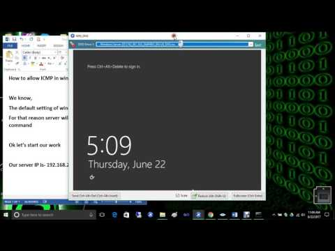 How to enable Ping in Windows Server 2012