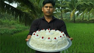 Home Made White Forest Cake!!! വൈറ്റ് ഫോറസ്ററ് കേക്ക് വീട്ടിൽ തന്നെ ഉണ്ടാക്കാം!!!