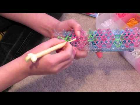 Rainbow Loom ROSE VINE bracelet (by Sophia)
