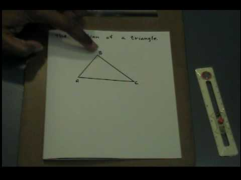 Constructing the median of a triangle