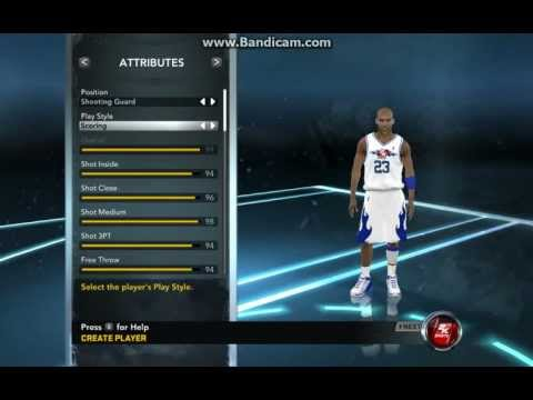 Nba 2k12-How to Create Michael Jordan.