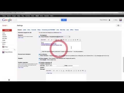 Gmail Tips Signature with Links