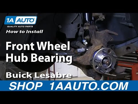 How To Install Replace Worn out Front Wheel Hub Bearing 1992-99 Buick Lesabre Pontiac Bonneville