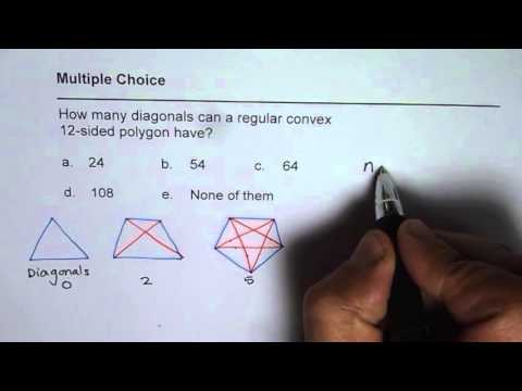 How Many Diagonals will 12 Sided Figure Have