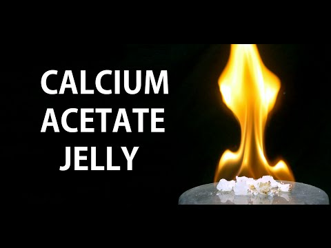 Making Alcohol Jelly (from Calcium Acetate)