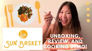 Sun Basket Meal Kit 2020 - Unboxing, Cooking, and Honest Review!   Is Sun Basket Worth It?? 👩🍳🤔