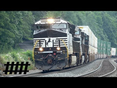 NS Railfanning at Tyrone Station PT 222 on the Pittsburgh Line at Pennsylvania Ave RR Crossing