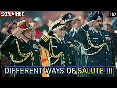 Why The Indian Army, Navy & Air Force Salute In A Different Way? Explained (Hindi)
