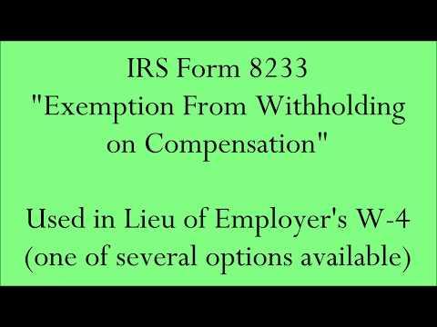 IRS Form 8233 -