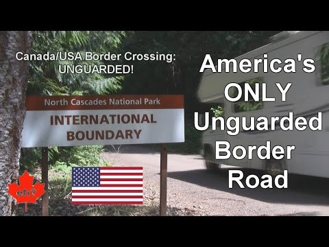 Crossing into USA on America's ONLY Unguarded Border Road