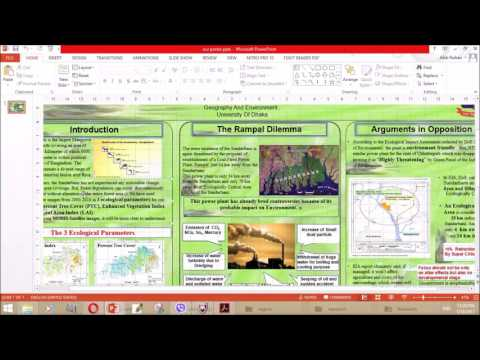 Creating poster using  powerpoint  (tutorial In Bangla )