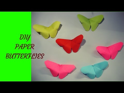 craft with paper. origami paper butterfly.  origami paper crafts for kids.