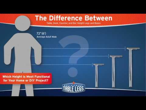 A Visual Guide to Table Leg Height Differences from Replacementtablelegs.com