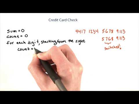 Credit Card Checksum - Intro to Java Programming