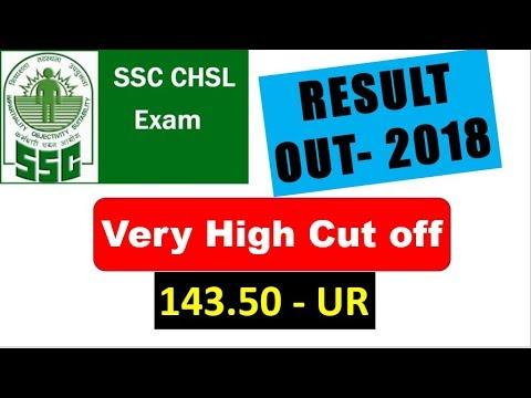 SSC CHSL 2017 Cut off OUT | Very High Cutoff 143.5 UR Category