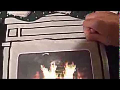 Skedouche Lighted Tablet Fireplace Christmas Sweater