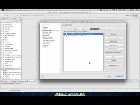 Setting up JUnit and Eclipse