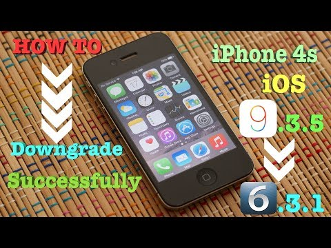 How To: Downgrade iPhone 4s iOS 9.3.5 Back to 6.1.3 Successfully 2017