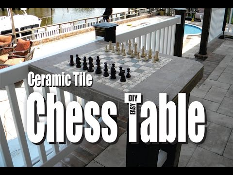 How to make a Ceramic Tile Chess Table Easy DIY Project