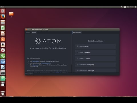How to install Atom editor in Ubuntu Linux