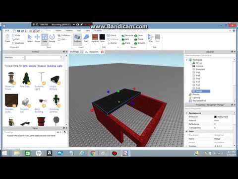 How to create a model! ROBLOX 2016