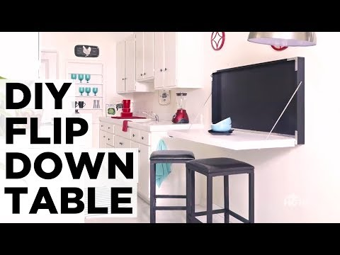 How to Make a Flip-Down Table - HGTV
