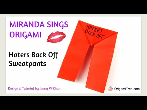 Origami Pants - Miranda Sings Inspired Paper Craft