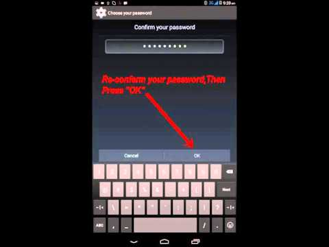 How to set Password Easily In Lenovo Tab