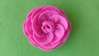 Cara Mudah Membuat Mawar dari Kain Flanel Cocok untuk Aksesoris