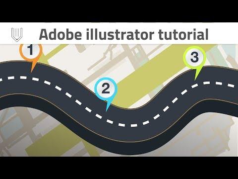 Adobe Illustrator tutorial | Road infographic template design | Graphic design tutorial
