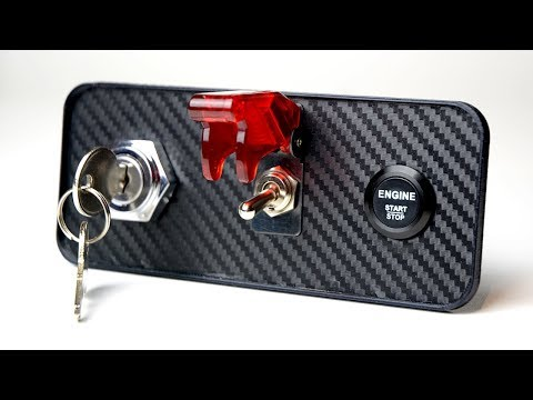 HOW TO WIRE IGNITION KEY + STARTER SWITCH SIM BUTTON BOX
