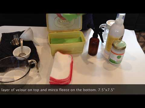 How to make your own cloth wipe solution!