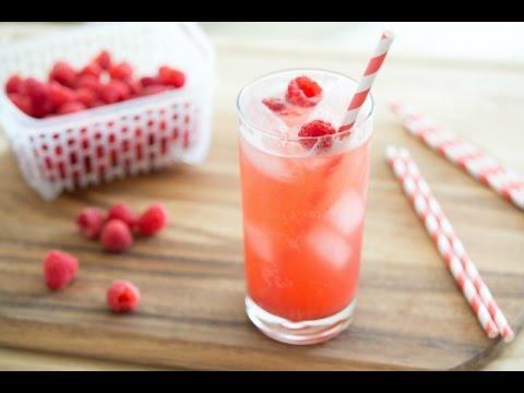 HOMEMADE RASPBERRY VANILLA SODA POP RECIPE - Non-Alcoholic Drink Miniseries