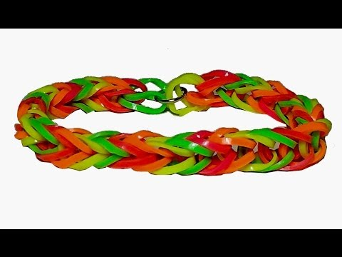 How to make a rubber band bracelet FISHTAIL in just 5 minutes!! without the rainbow loom! Fun