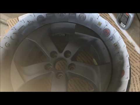 2016 honda hr-v plasti dipping the wheels matte black