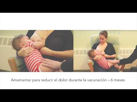 Amamantar para reducir el dolor durante la vacunación – 6 meses