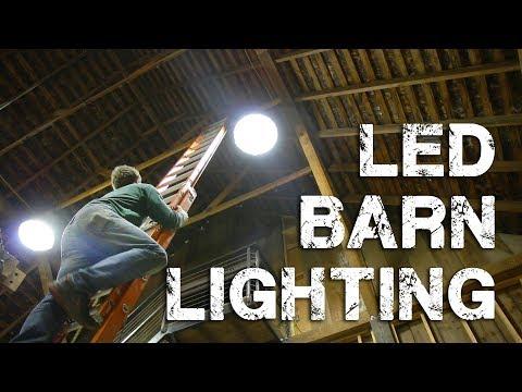Installing LED Shop/Barn Lighting - UFO High Bay Lights