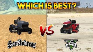 GTA 5 Lawn Mower VS GTA San Andreas Mower : Which is Best?