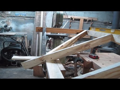 Cutting valley rafters with speed square