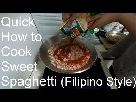 How to Cook Sweet Spaghetti (Filipino Style)