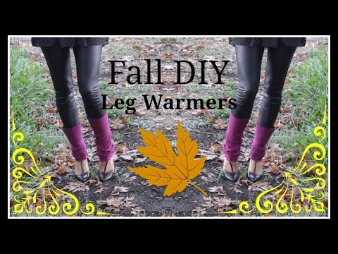 DIY NO SEW Leg Warmers : How to make Leg Warmers out of an old Sweater: