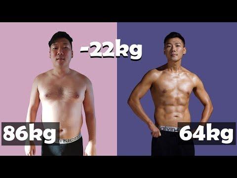 LOSING 22KG IN 23 WEEKS - BODY TRANSFORMATION (Shorter version)